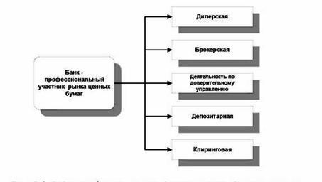 Российский Банк Рефератов Дипломная работа Рынок  Виды профессиональной деятельности банков на рынке ценных бумаг